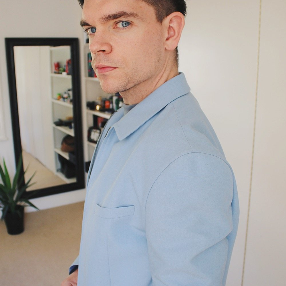 Topman Haul - Blue turtle neck with blue blazer