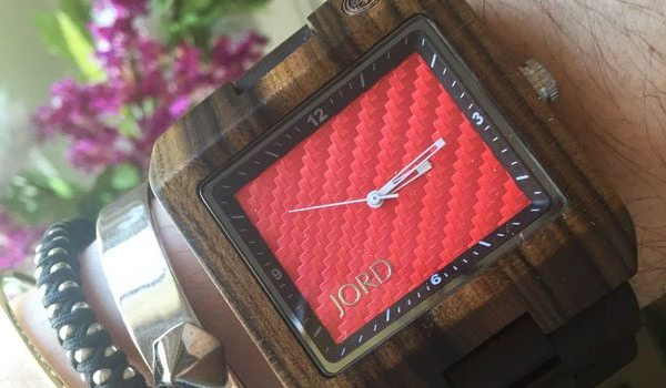 Jord Watch | Dark Sandalwood and Red Carbon