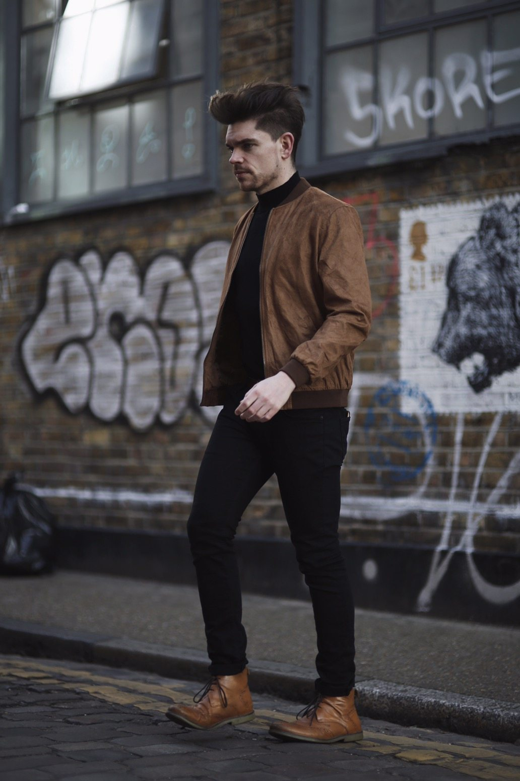 Robin-James-Man-For-Himself-Menswear-Outfit-Suede-Bomber