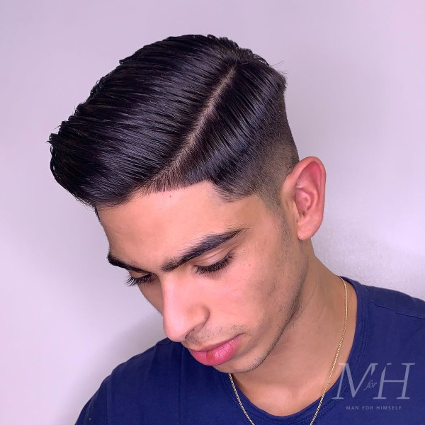 mens-hairstyle-medium-fade-side-part-grooming-MFH28-man-for-himself