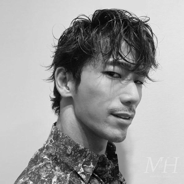 Naoki Kobayashi: Long Fringe Hairstyle