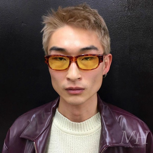 Sang Woo Kim: Bleach Blonde Short Hair