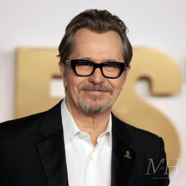 gary oldman medium length hairstyle widow's peak
