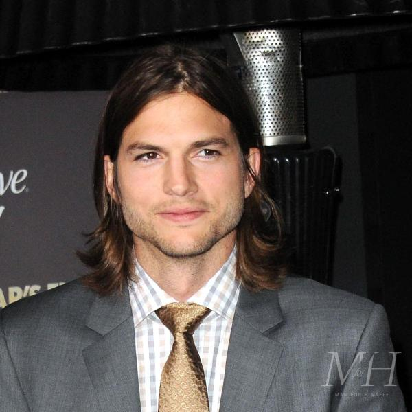 ashton kutcher long layered hairstyle