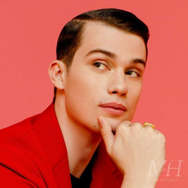 Nicholas Galitzine: Slicked Down Side Parted Taper Hairstyle