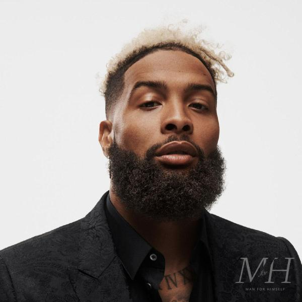 Odell Beckham Jr: Dyed Platinum Blonde Afro Hairstyle With Skin Fade