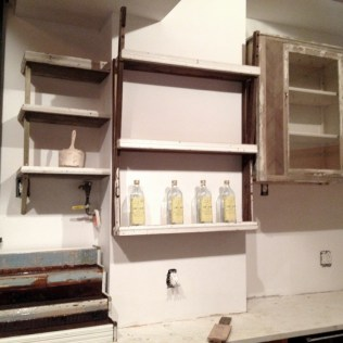 Installing the backbar in Sweet Chick
