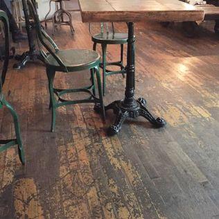 Swallow Cafe Bushwick one legged tables