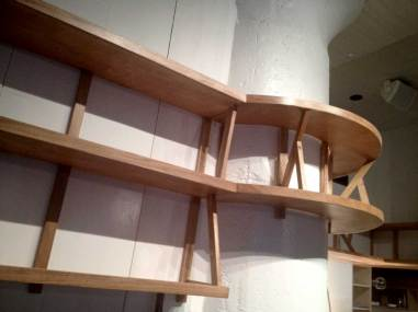Westville Bar Manhattan - Architectural wraparound column shelving