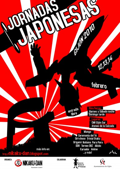 cartel jornadas japonesas en abierto hasta el amanecer nikaku dan 2010