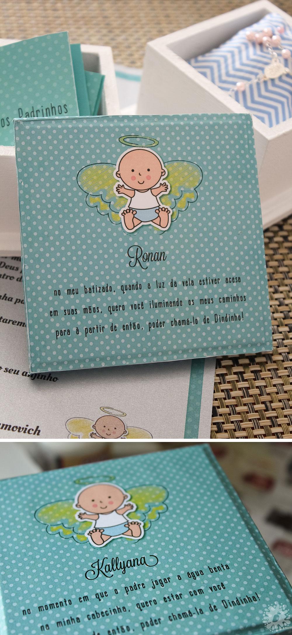 Convite para os Padrinhos   Batizado do Bebê