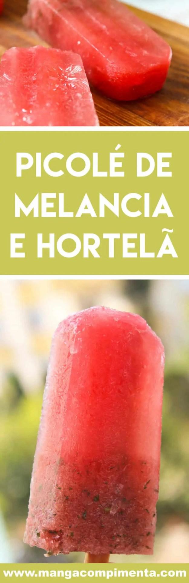 Receita de Picolé de Melancia e Hortelã - fácil de preparar e perfeito para espantar o calor para lá.