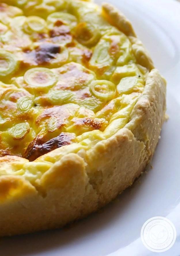 Quiche de Alho-poró - uma torta francesa para o almoço da família!