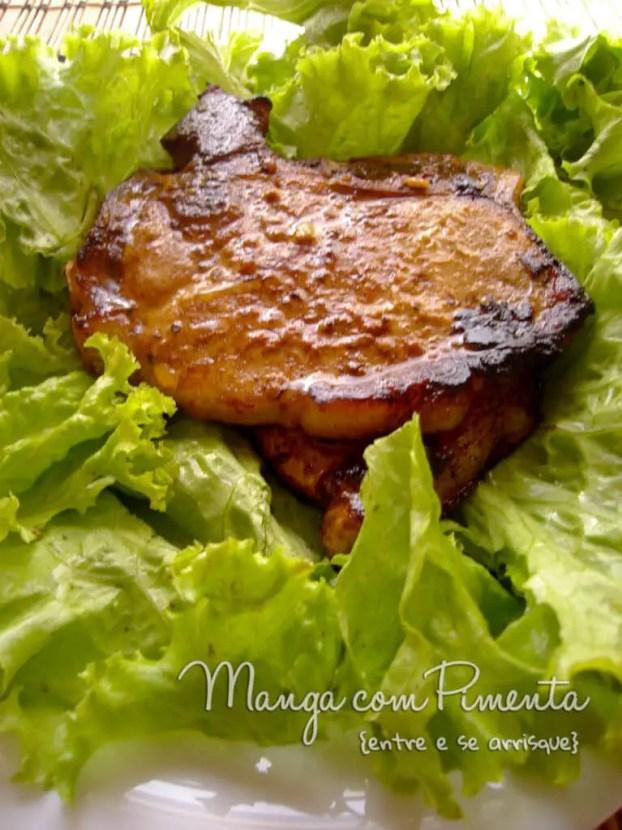 Bisteca de Porco com Molho Barbecue