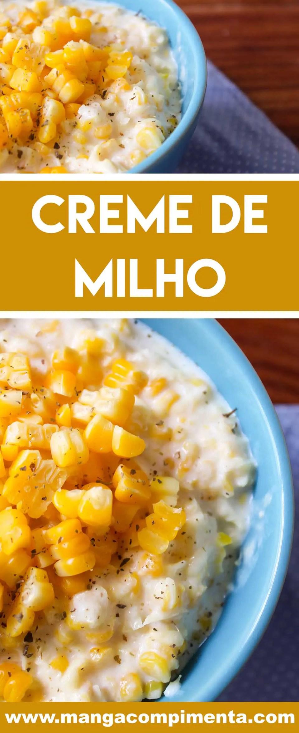 Receita de Creme de Milho - um prato caseiro preparado a minha moda.
