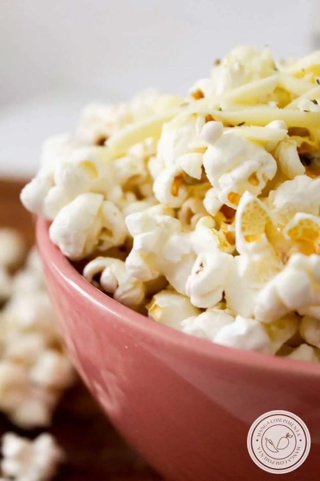 Pipoca Sabor Queijo - para curtir em casa assistindo um filme ou em uma Festa Junina!