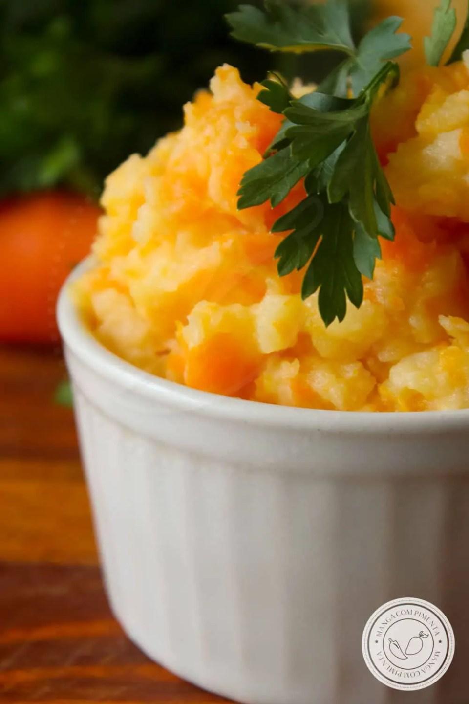 Receita de Purê de Batata e Cenoura - uma receita nutritiva para o almoço do dia a dia.