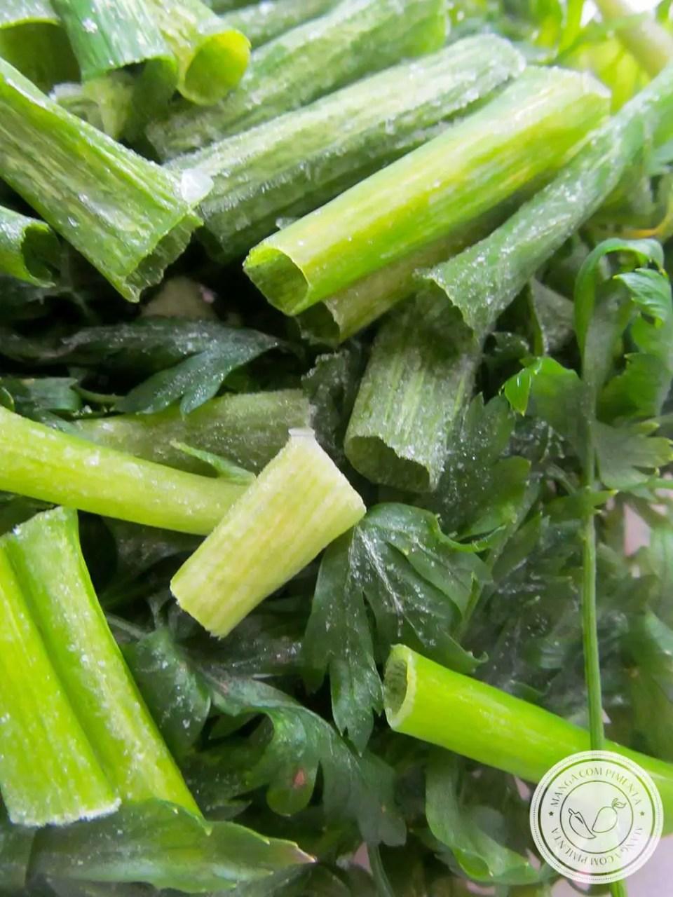 Conservando a Salsinha Fresca - veja como é fácil fazer essa técnica de congelar esse tempero fresquinho!