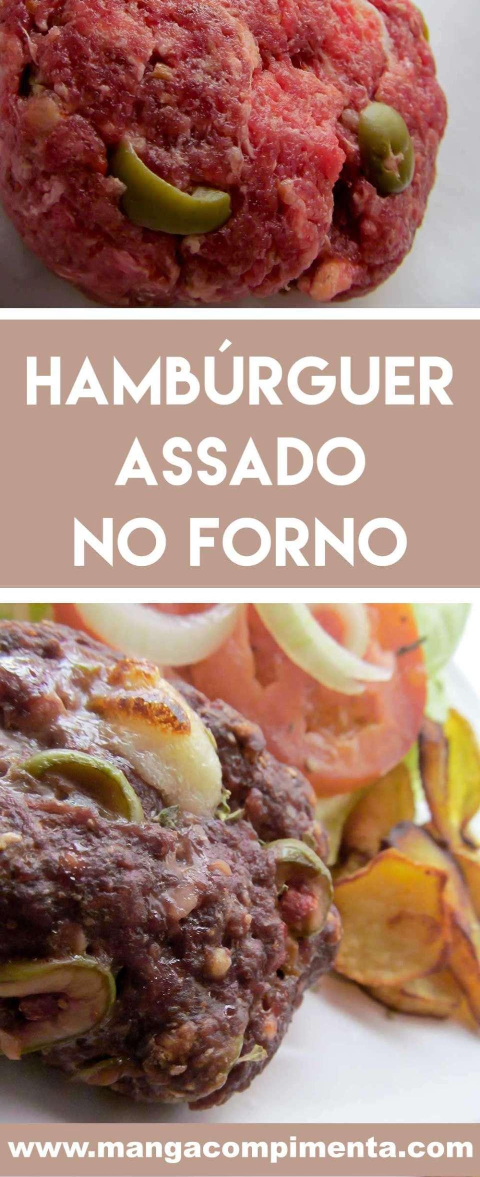 Receita de Hambúrguer Assado no Forno - prepare em casa essa delícia para a sua família.