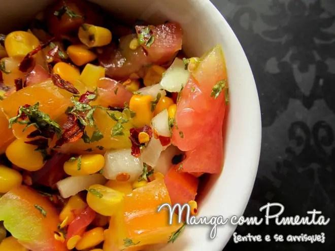 Salsa ou Salada de Tomate e Milho
