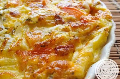Omelete de Forno Recheado - para um almoço simples e express.