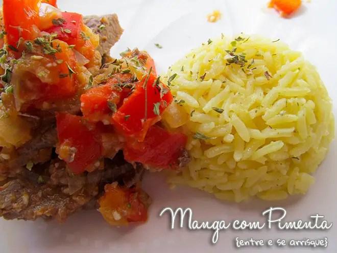 Carne com Pimentão e Tomate
