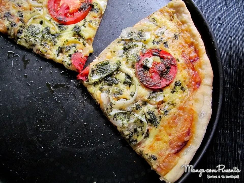 Pizza de Margherita ao Pesto