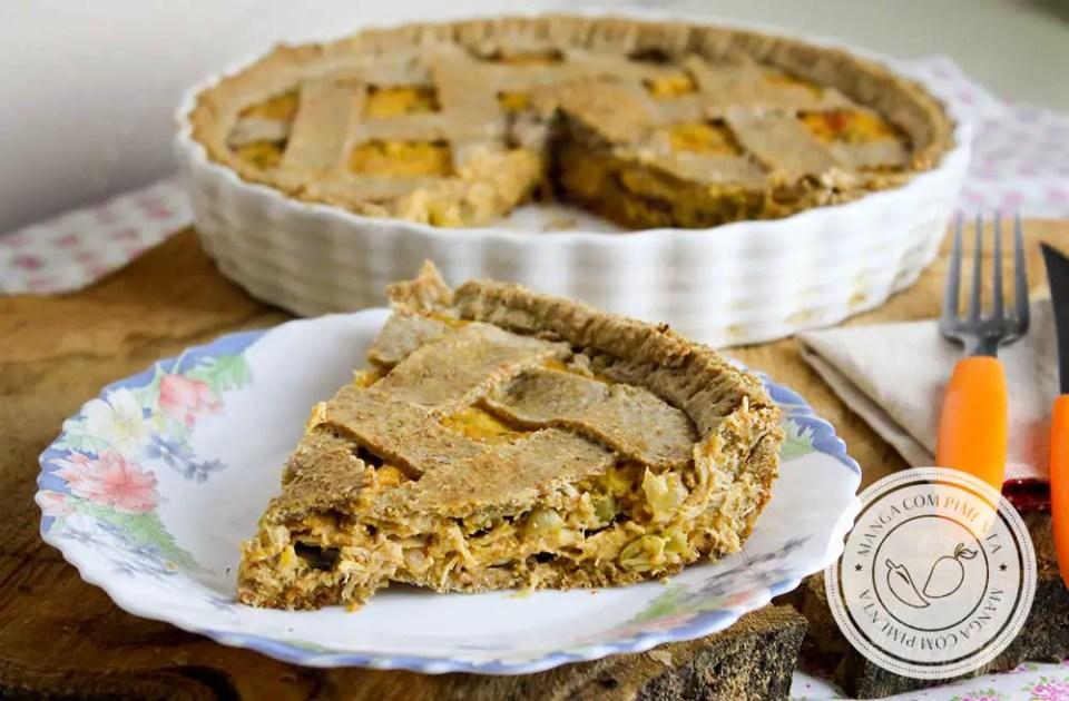 Receita de Torta Integral de Frango - um prato nutritivo e delicioso para quem procura comer bem!