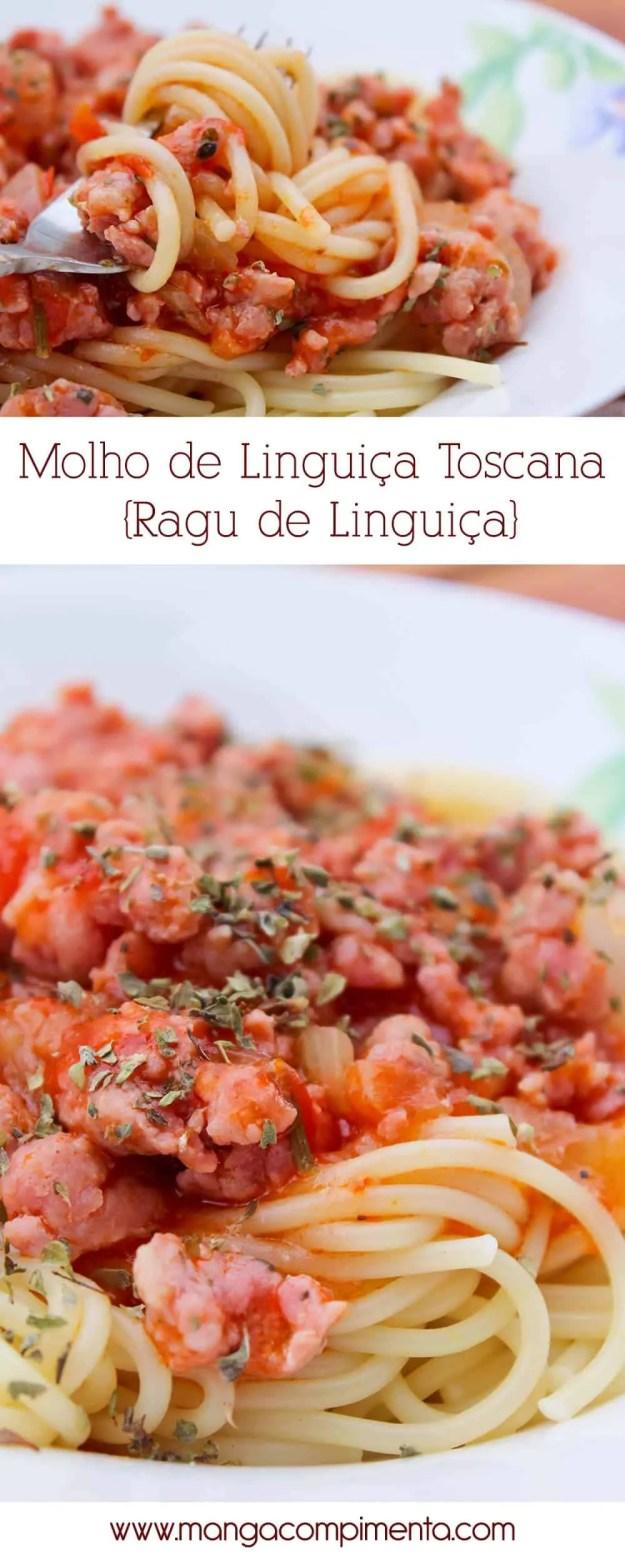 Molho de Linguiça Toscana ou Ragu de Linguiça - Para o macarrão de Domingo!
