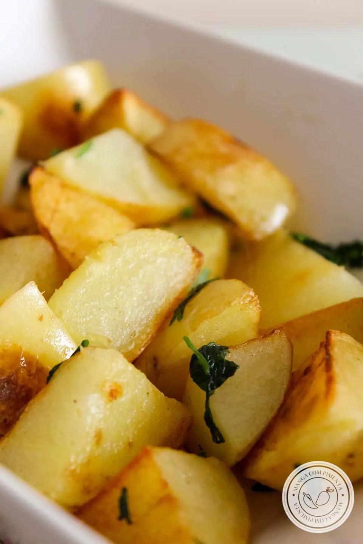 Batatas Sauté - uma delícia francesa para o almoço.