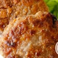 Bife de Carne Moída à Milanesa