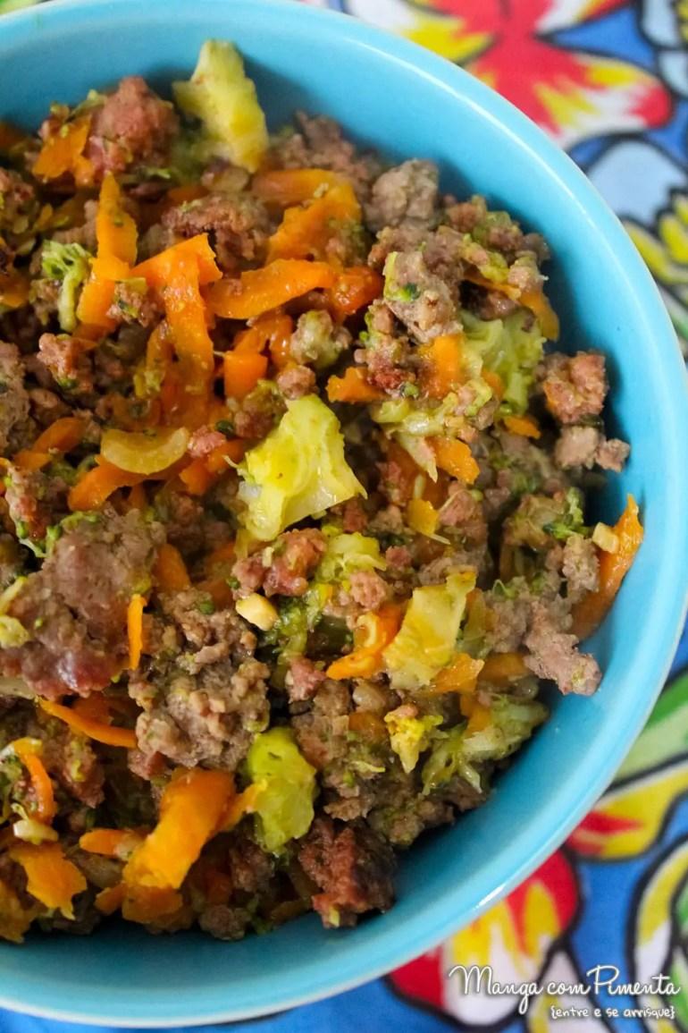 Carne com Cenoura e Brócolis