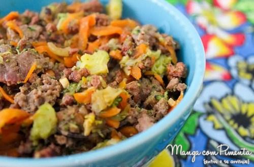 Carne com Cenoura e Brócolis - acompanhamento nutritivo para almoço ou jantar do dia a dia!