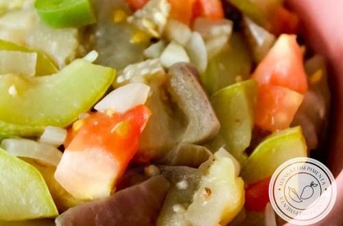 Salada de Berinjela com Abobrinha - Comidinhas do Bem - perfeito para o almoço da semana!