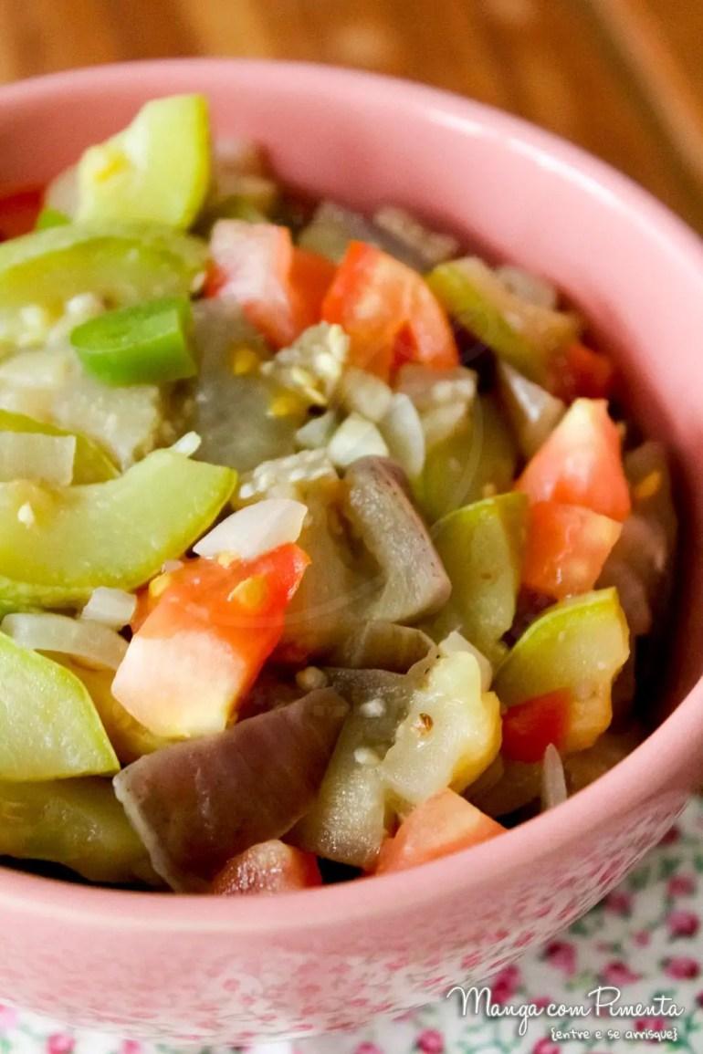 Salada de Berinjela com Abobrinha {Comidinhas do Bem}