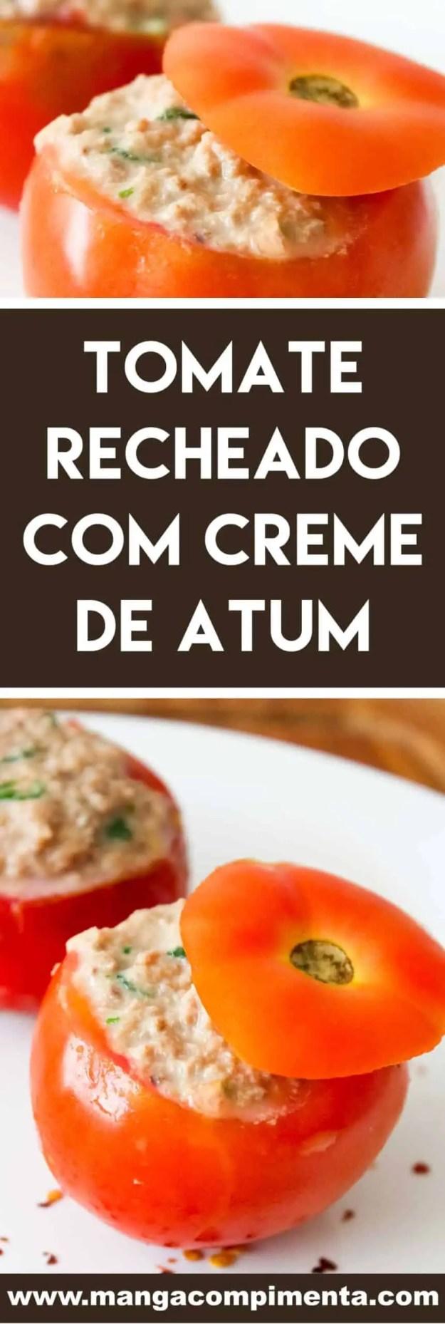 Receita de Tomate Recheado com Creme de Atum - para servir em dias quentes e no almoço de Páscoa.