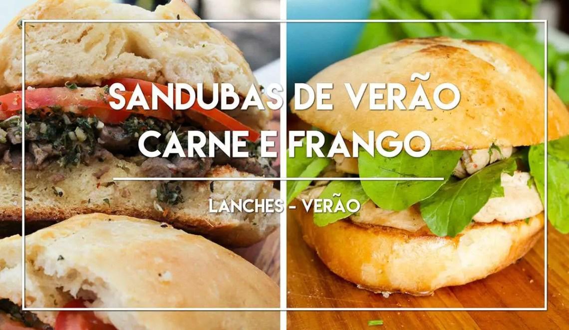 Receitas de Sandubas: Sanduíche de Frango com Rúcula