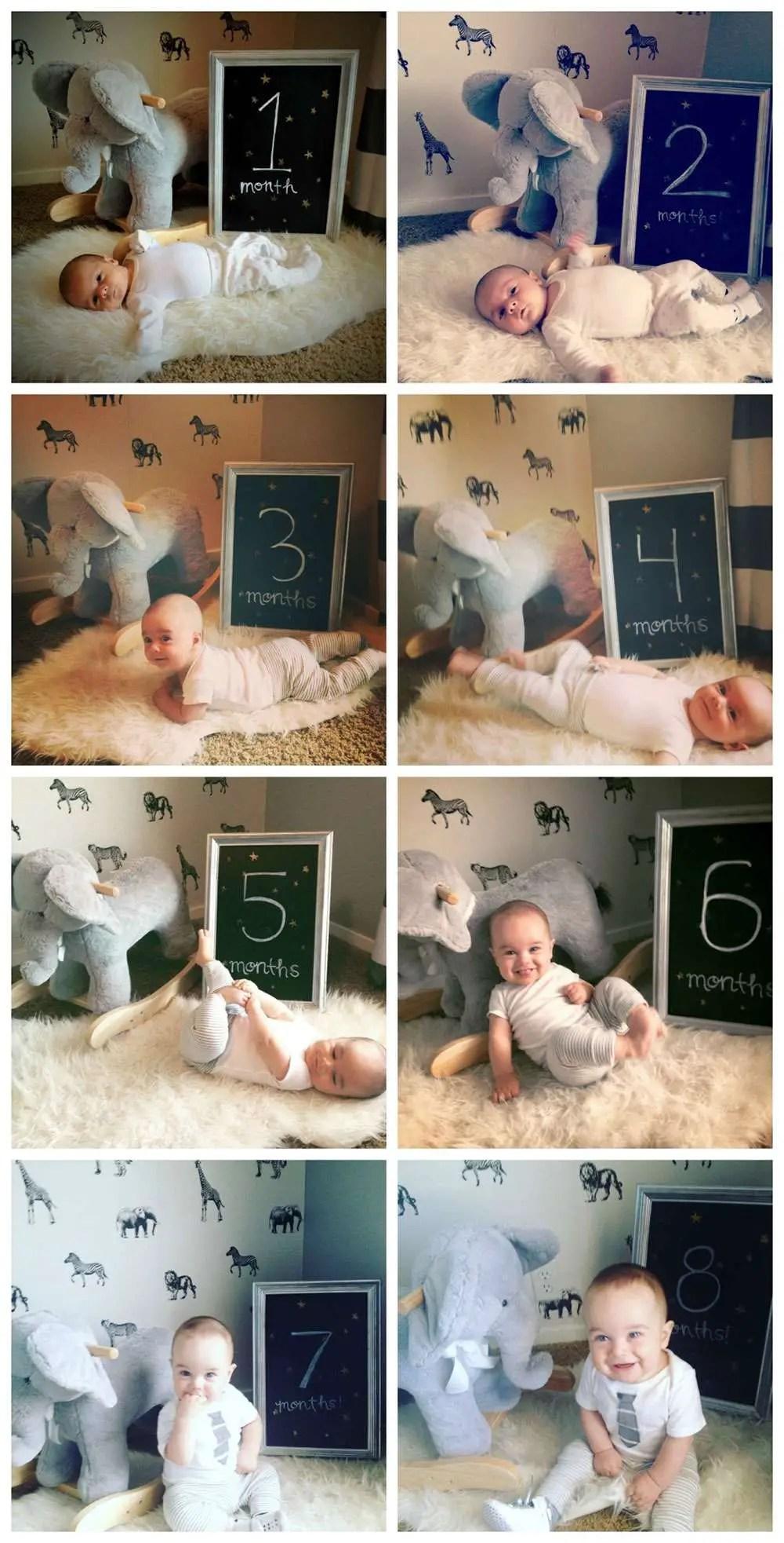 Fotografia com o Registro mês a mês do bebê {Baby Idéia}