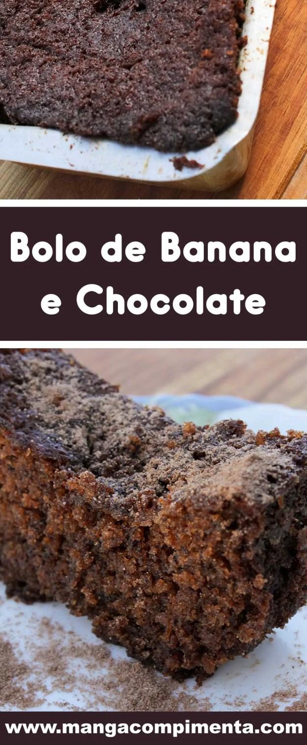 Receita de Bolo de Banana e Chocolate - prepare um lanche delicioso para a sua família.