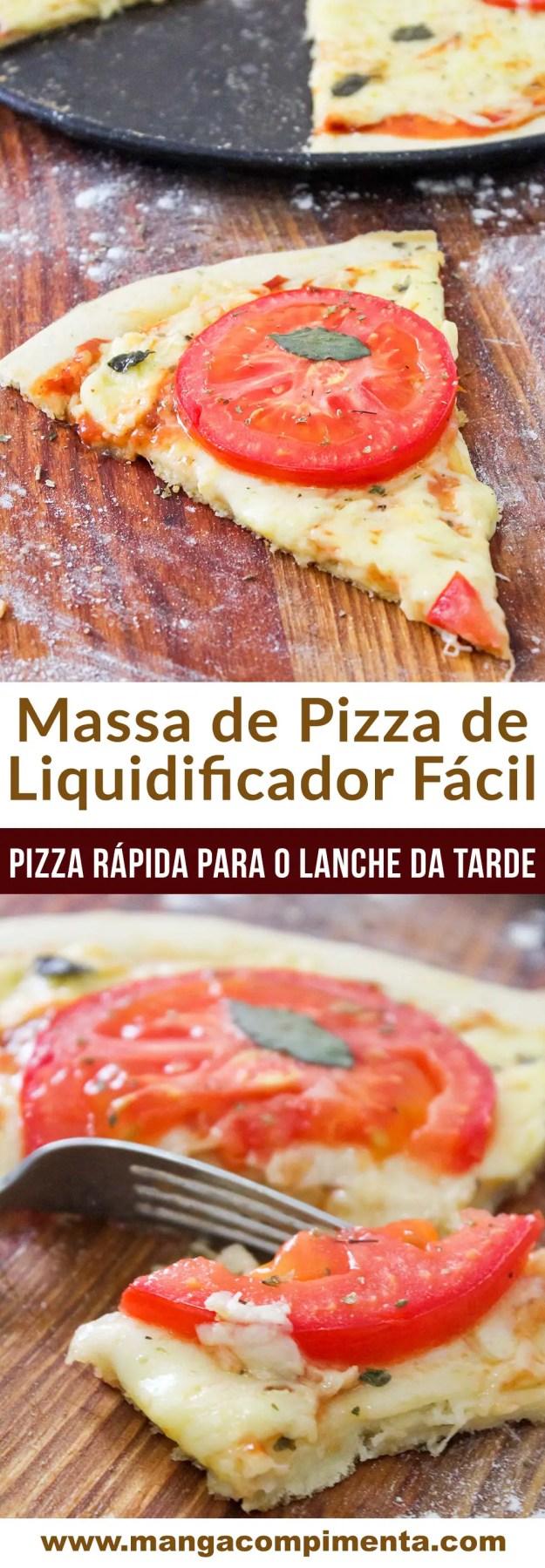 Massa de Pizza de Liquidificador Fácil - para matar qualquer fominha a qualquer hora!