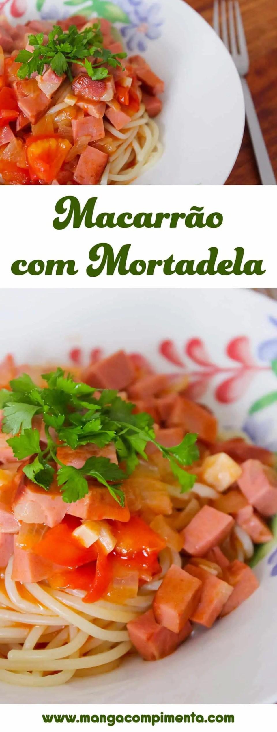 Macarrão com Mortadela - para um almoço express na semana!