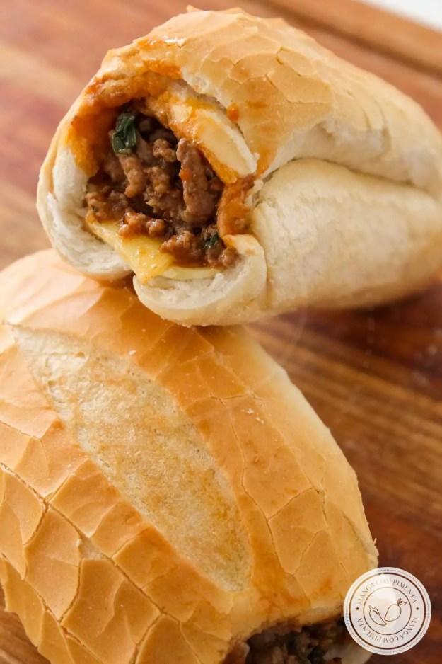 Receita de Sanduíche Buraco Quente - um lanche gostoso para os amigos, prepare no final de semana.