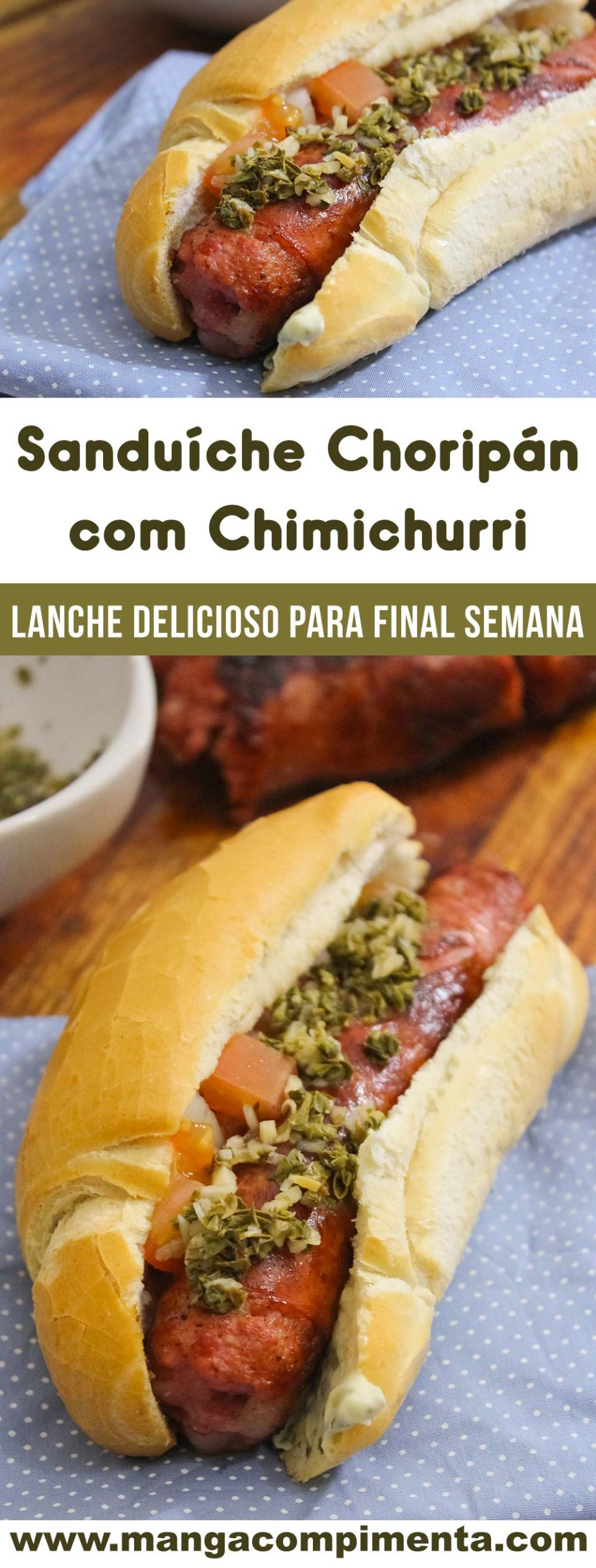 Sanduíche Choripán com Chimichurri - Um lanche delicioso para final de semana!