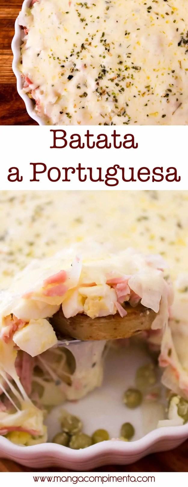 Batata a Portuguesa – perfeito para um almoço ou lanche