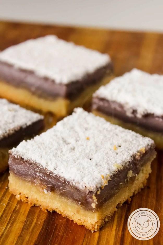 Receita de Grape Bars ou Barrinhas de Uva - uma sobremesa americana maravilhosa para comer qualquer hora.