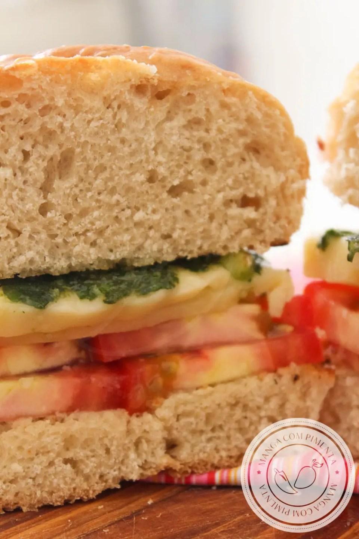Lanche para qualquer hora: Sanduíche Caprese - Receitas de Verão