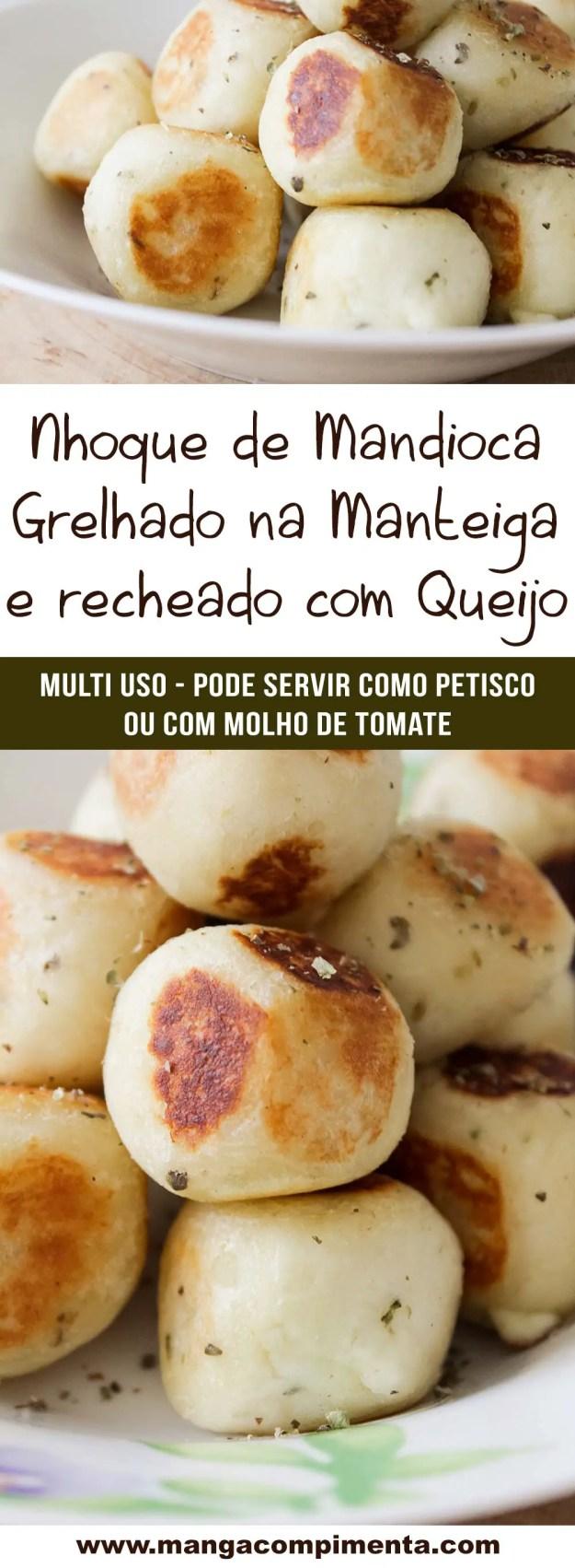Nhoque de Mandioca Frito Recheado com Queijo - Para petiscar assistindo os jogos da Copa do Mundo!
