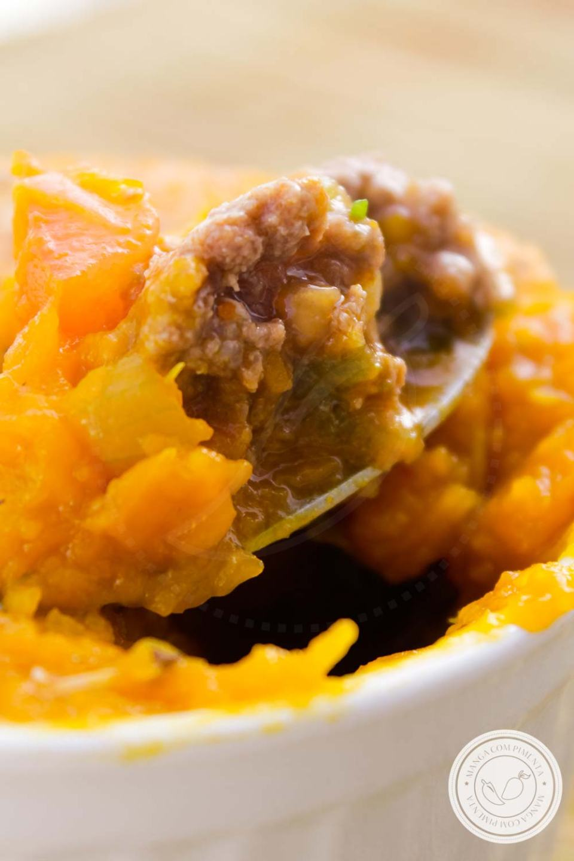 Escondidinho de Abóbora com Carne MoídaSem Lactose - prepare essa delícia para o almoço da semana!