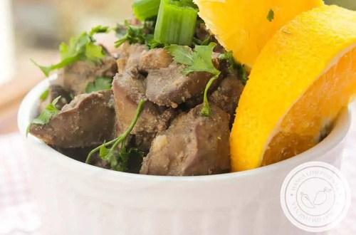 Fígado de Frango com Laranja - para um almoço nutritivo e delicioso.
