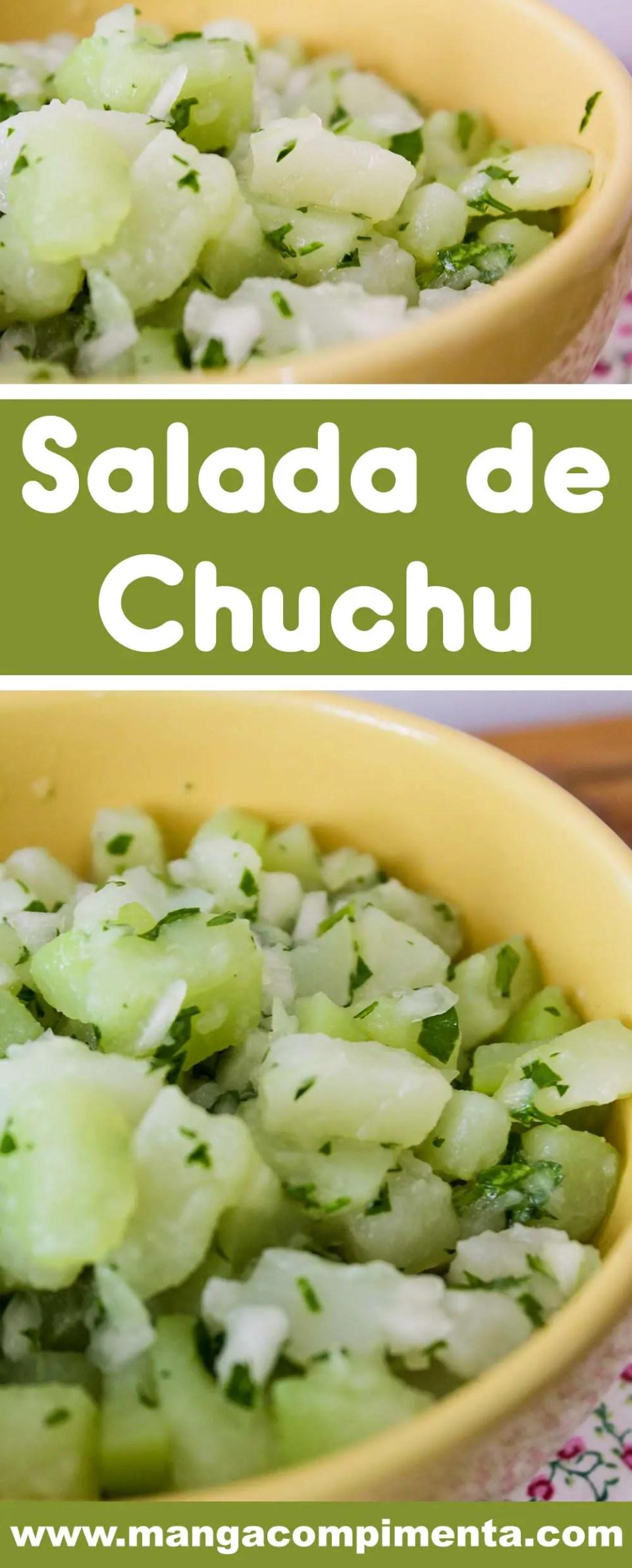 Salada de Chuchu - veja como é fácil de fazer, um prato nutritivo para as refeições do dia a dia!